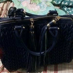 Handbags - Blue bag with tassle, MAKE A OFFER , OR BUNDLE